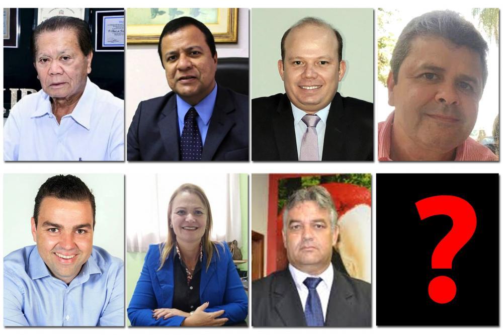 Pela ordem: Akira, Amarildo, Dennis, Dr. Junior, Neto, Regina e Banha.